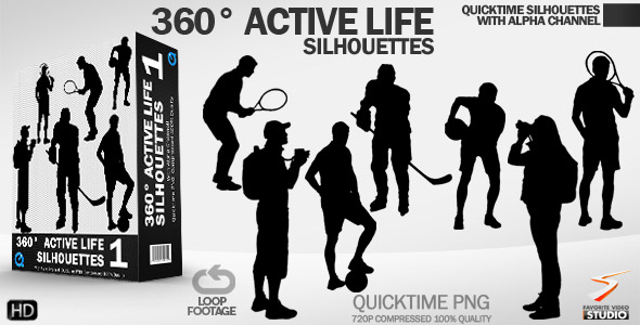 Active Life Rotating Silhouettes