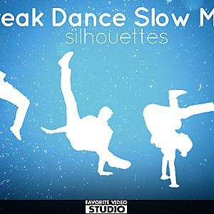 7 Break Dance Silhouettes