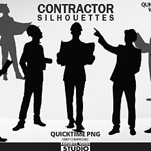 Contractor 10 Male Silhouettes