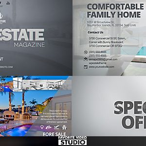 Real Estate Magazine Template