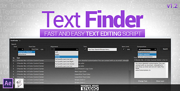 Taxt Finder Script by FVS