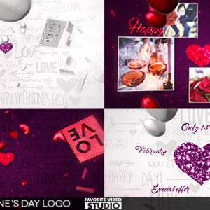 Valentine's Day Logo 3in1