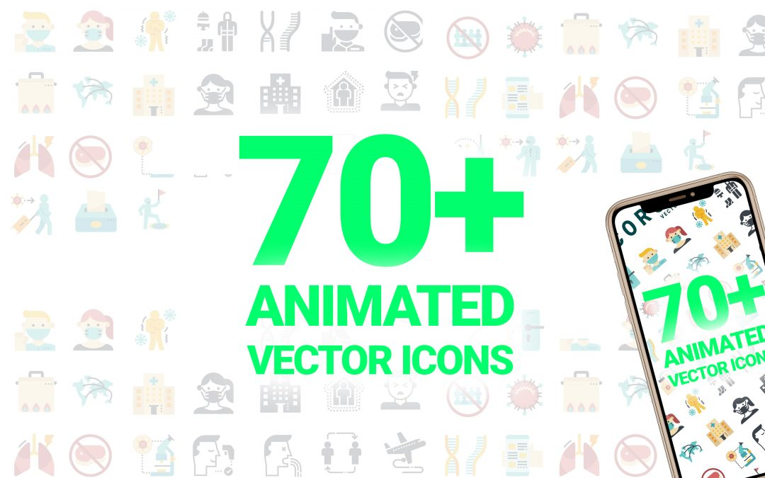 Coronavirus Vector Animated Icons