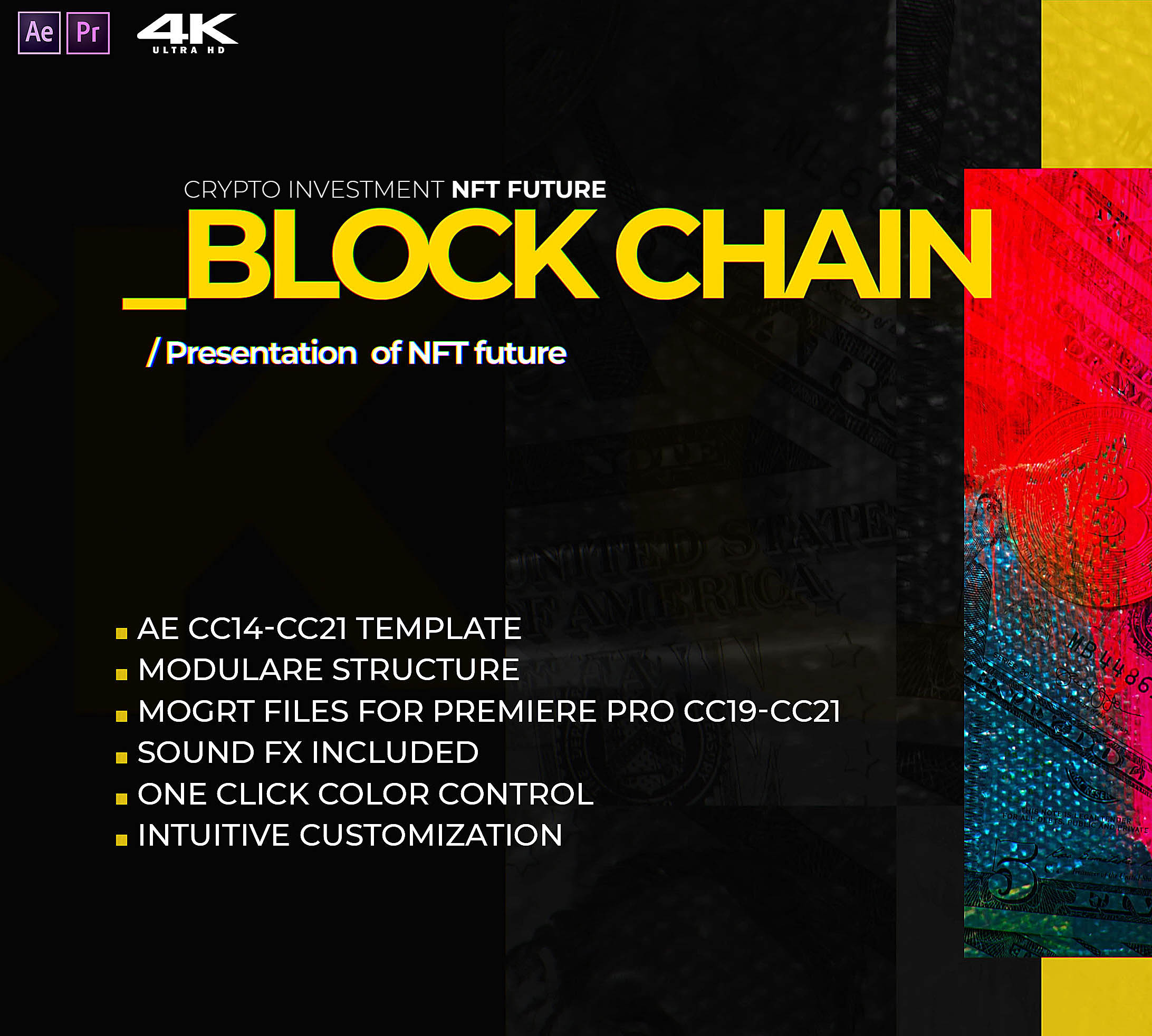 Block Chain Crypto NFT future template